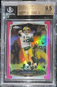 Aaron Rodgers 2014 TOPPS CHROME PINK REFRACTOR 83 /399  BGS 9.5,10 sub PSA prizm