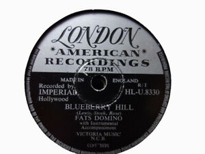 FATS DOMINO - Blueberry Hill / I Can't Go On 78 rpm disc (A+)