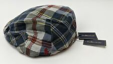 Polo Ralph Lauren Striped Flat Cap Men Size S/M Tartan Pattern 6503349