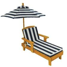 Kids Outdoor Chaise Lounge Children's Chair Umbrella & Cushion Pool Furniture