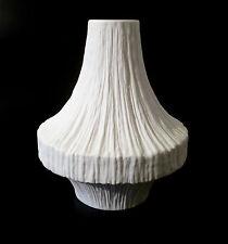 """70s Heinrich Bisquit Porzellan Vase """"1980"""" relief porcelain matte 19cm annees 70"""