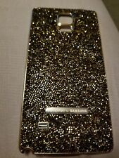 Authentic Swarovski Crystal Battery Back Cover Samsung Galaxy Note 4 GOLD OEM