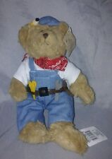 "Russ Teddy Bear Mr Fix It 10"" Plush Soft Toy Stuffed Animal with Tag Advertise"