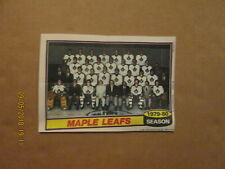 NHL Toronto Maple Leafs 1979-80 Topps Chewing Gum Team Pin Up 5x7 Team Photo