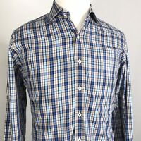 PETER MILLAR LONG SLEEVE PLAID BUTTON DOWN COTTON SHIRT MENS SIZE M