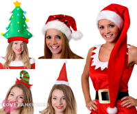 LADIES CHRISTMAS HAT 5 PACK XMAS FANCY DRESS PARTY OFFICE WORK NOVELTY HATS