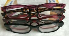 Equate Readers Queens +2.00 Womens Multicolor Reading Glasses 4 Pack New