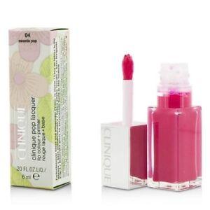 Clinique Pop Lacquer Lip Colour + Primer  #04 Sweetie Pop 6ml - BOXED FULL SIZE