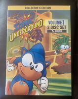Sonic Underground - Vol 1 - 1999 (DVD, 2013, 3-Disc) BRAND NEW!! FREE SHIPPING!!
