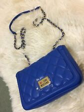 Love Moschino Cross Body Bag Blue Quilted