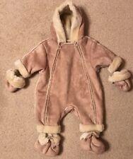 NWT! Children's Place Baby Faux Fur Lined Zip Up Snowsuit/Coat Sz 0-3 Months