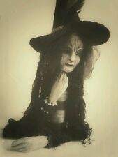 """OOAK ART DOLL/Puppet by Anita Moore """"Halloween Hag"""" Witch Table Center Piece for"""