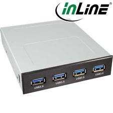 InLine Frontpanel für den Floppy Schacht, 4x USB 3.0, schwarz
