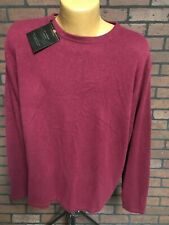 MEMBER'S MARK 100% Cashmere Crewneck Pullover Sweater XL Mens Maroon Red New