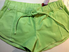 NWT Womens Original Penguin Lime Green Corduroy Short Shorts Size Small