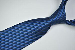 CHARVET PLACE VENDOME Tie MADE IN FRANCE 100% Silk Blue Color L60 W3.7
