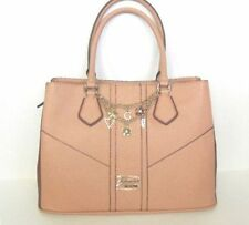 GUESS Rumor Has It Pink Mauve Handbag Purse Satchel Zippered Shoulder Bag