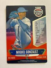 MIGUEL GONZALEZ 2015 PLATINUM SERIES BASEBALL GAME CARD, ORIOLES