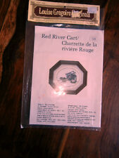 Vtg Louise Gregoire petit point chart Red River Cart 138 150x97 stitches NEW