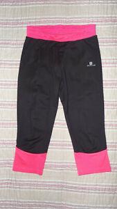 Leggings, pantalons, corsaires fitness NOIR ROSE 10 ANS 140 CM DECATHLON DOMYOS