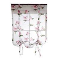 Beauty Floral Roman Curtain Sheer Rod Pocket Tab Top Window Voile Drape #1