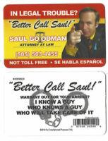 "Saul Goodman ""Better Call Saul"" Business Card FREE SHIPPING"