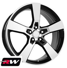 "20 x8"" / 20 x9"" inch Wheels for Chevy Camaro  2010-2019 Machined Black SS Rims"