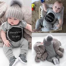 Newborn Infant Baby Girl Boy Clothes Bodysuit Romper Jumpsuit Playsuit Outfits
