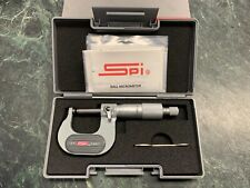 Spi Mechanical 0 To 1 Measurement Carbide Face Ball Anvil Outside Micrometer