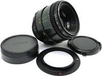 1977 MMZ-LOMO HELIOS 44-2 58mm f/2 USSR Lens M42 w/ Adapter Nikon F Mount Camera