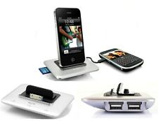 DEXIM MHUB 2 AMP DUAL USB CHARGE & SYNC DOCK STATION FOR iPHONE 4 4S