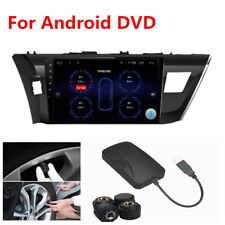 12V TPMS Car Tire Pressure Alarm Security System+4 Sensor For Android DVD Player
