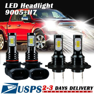 FIT For Mazda 5 2006-2010 6000K COB LED Headlight Hi-Low Lights Conversion Kit