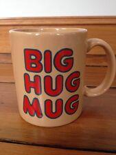 Vintage 80s FTD Big Hug Mug HBO True Detective Ceramic Coffee Mug