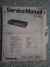 Technics SU-380 service manual original repair book stereo amp amplifier