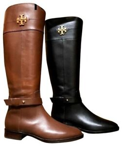 Tory Burch Everly Calf Leather Riding Boot