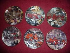 Franklin Mint Porcelain Fire Brigade Plates