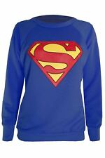 Ladies Full Sleeve Superman Tee Shirt Womens Batman Sweatshirt Hoody Tops