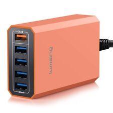 Multi USB Port Quick Charging Station Dock Auto Detect Optimal Speed Safe Smart