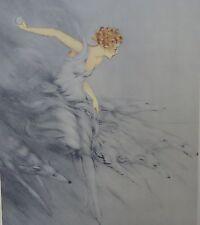 """ART DECO ICART LADY BORZOI ZEST PRINT 23"""""""