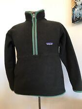 Patagonia Synchilla Marsupial Fleece Jacket Youth Large 12 1/2 Zip Dark Green