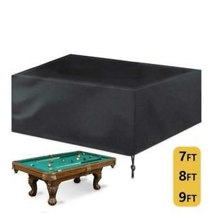 7/8/9 ft Pool Table Cover, Waterproof Oxford cloth for Snooker Billiard Table
