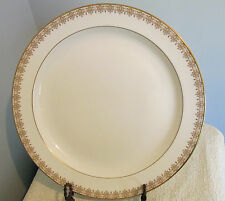 "PATTERN GOLD LACE BY ROYAL DOULTON CHINA # H4989 13"" CHOP PLATE GOLD FILIGREE"