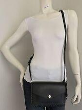 fa779b6f02ee0e NWT MICHAEL KORS 32S6SGRC10 Greenwich Black White Small Flap Crossbody Bag