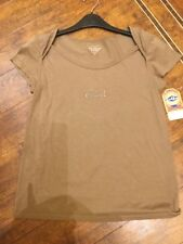 Womans Earl Jeans top/tee shirt taupe S  (USA)