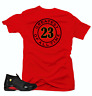 Shirt to Match Jordan 14 Last Shot Sneakers.Greatest Red Tee