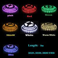 12V 5M Waterproof Super Bright 3528 5050 5630 SMD 300 LED Flexible Strip light