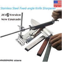 Knife Sharpener Professional Kitchen Sharpening System Fix-angle + 4 Stone Tool