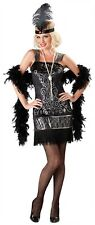 NWT InCharacter Flirty Flapper Adult Women's Large Black Halloween Costume