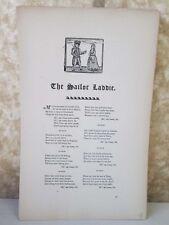 Vintage Print,SAILOR LADDIS,Real Sailor Songs,1891